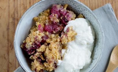 Recept: Appel-bramen crumble met yoghurt - - Angelina Catharina, by Eunoia